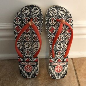 Adorable tribal Tory Burch beach sandal